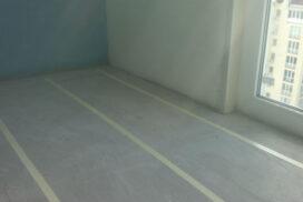 Электрический теплый пол на балконе, начало работы