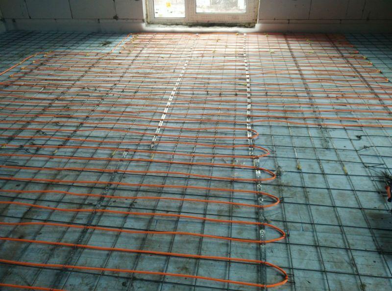 Электрический теплый пол в стяжку, отопление дома